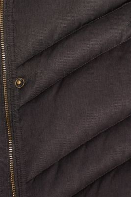 Quilted coat with a faux fur hood, ANTHRACITE 5, detail