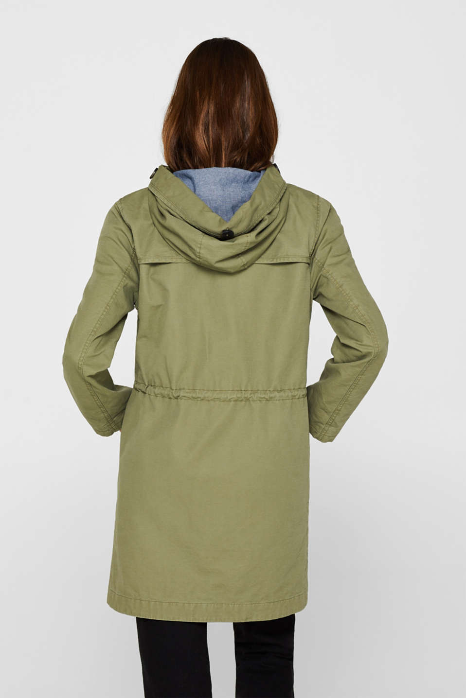 Coats woven, KHAKI GREEN, detail image number 3