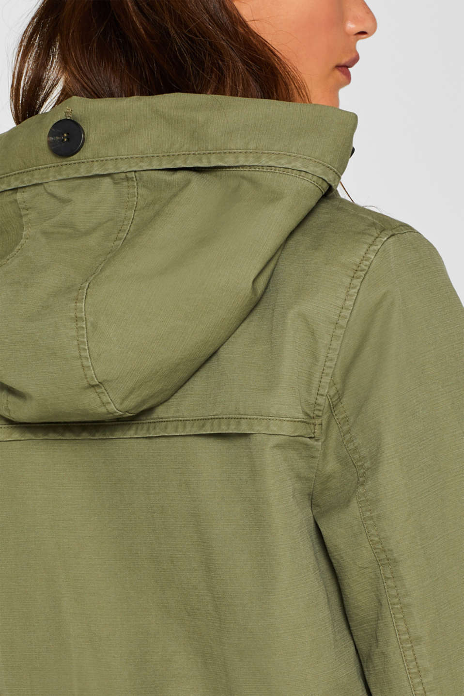 Coats woven, KHAKI GREEN, detail image number 2