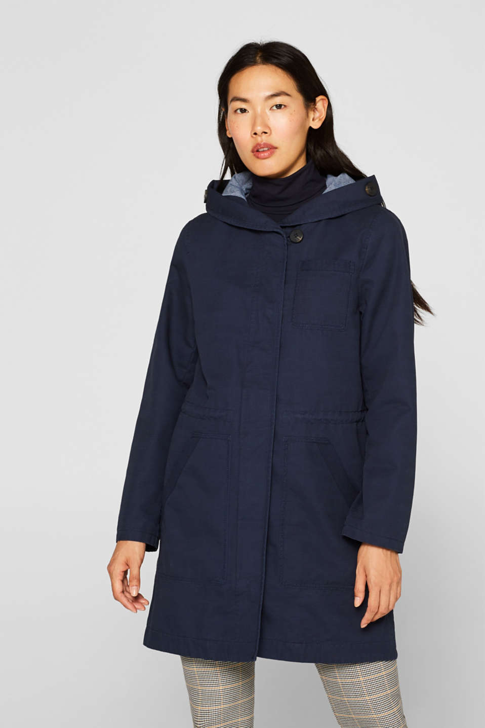 Coats woven, NAVY, detail image number 0