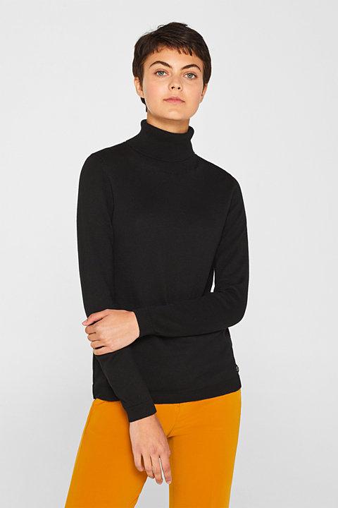 Basic polo neck jumper