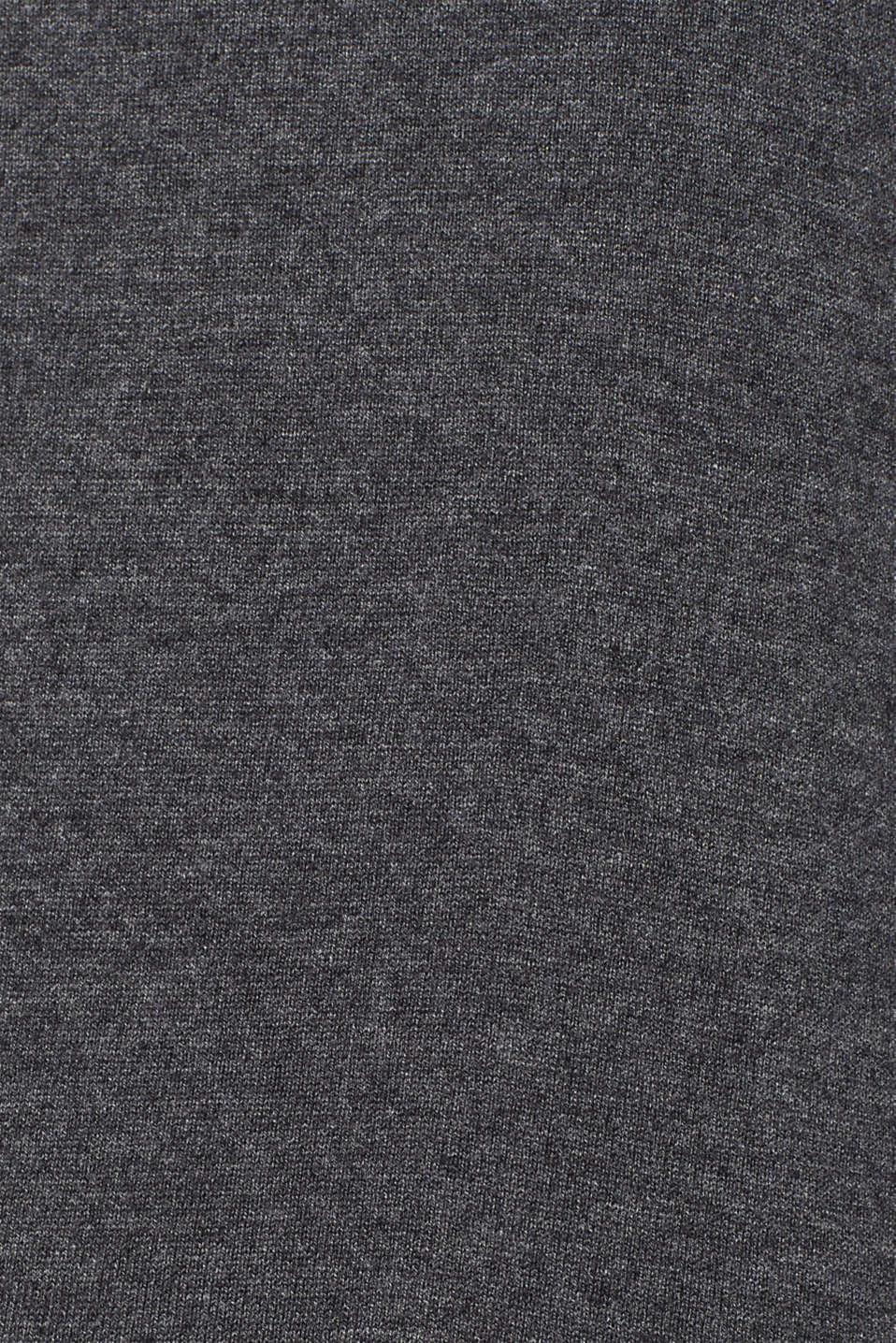 Basic polo neck jumper, DARK GREY 5, detail image number 4