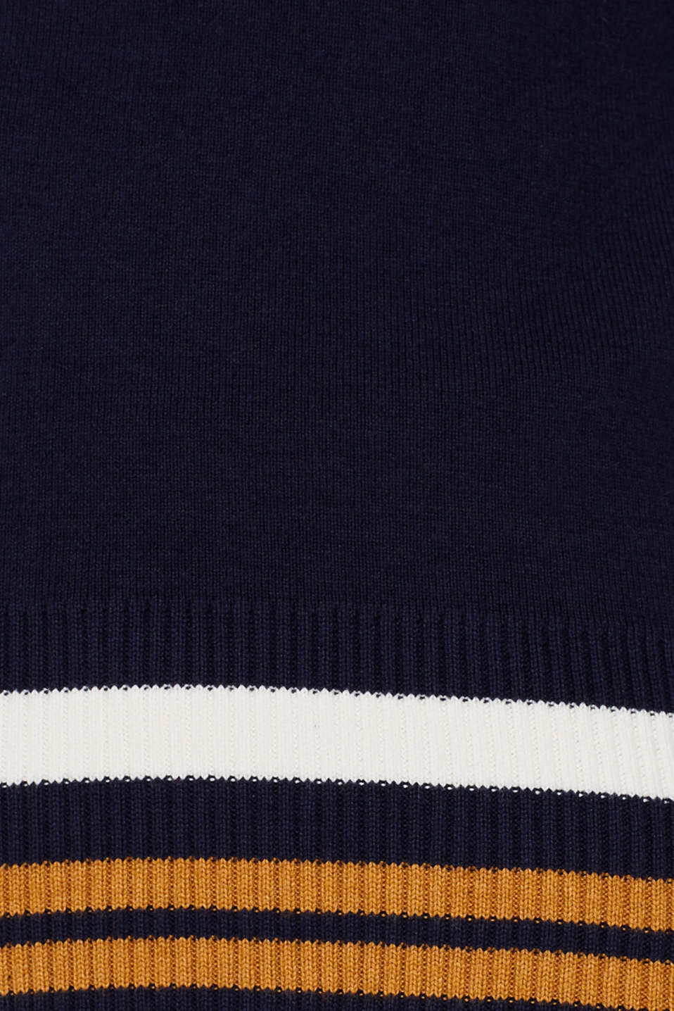 Knit cardigan with a hood and stripes, NAVY 3, detail image number 4