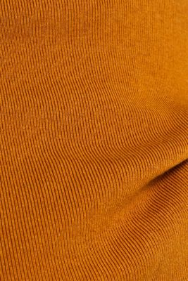 Striped jumper with a zip, AMBER YELLOW, detail