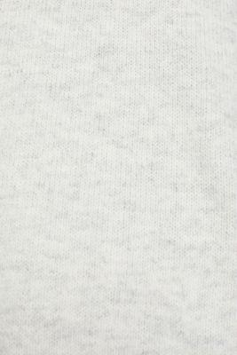 With wool: Hoodie made of melange yarn, PASTEL GREY 5, detail