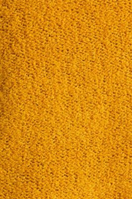 Made of blended wool: Bouclé cardigan with a V-neckline, BRASS YELLOW, detail