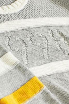 Intarsia pattern jumper, MEDIUM GREY, detail