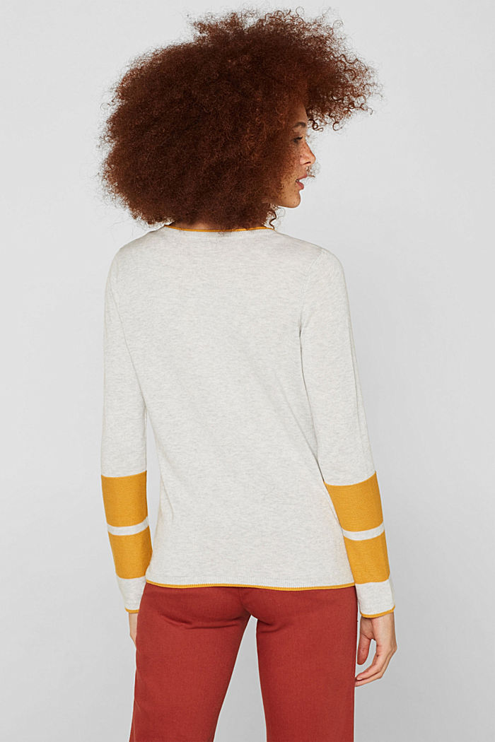 Jumper with colour blocking, LIGHT GREY, detail image number 3