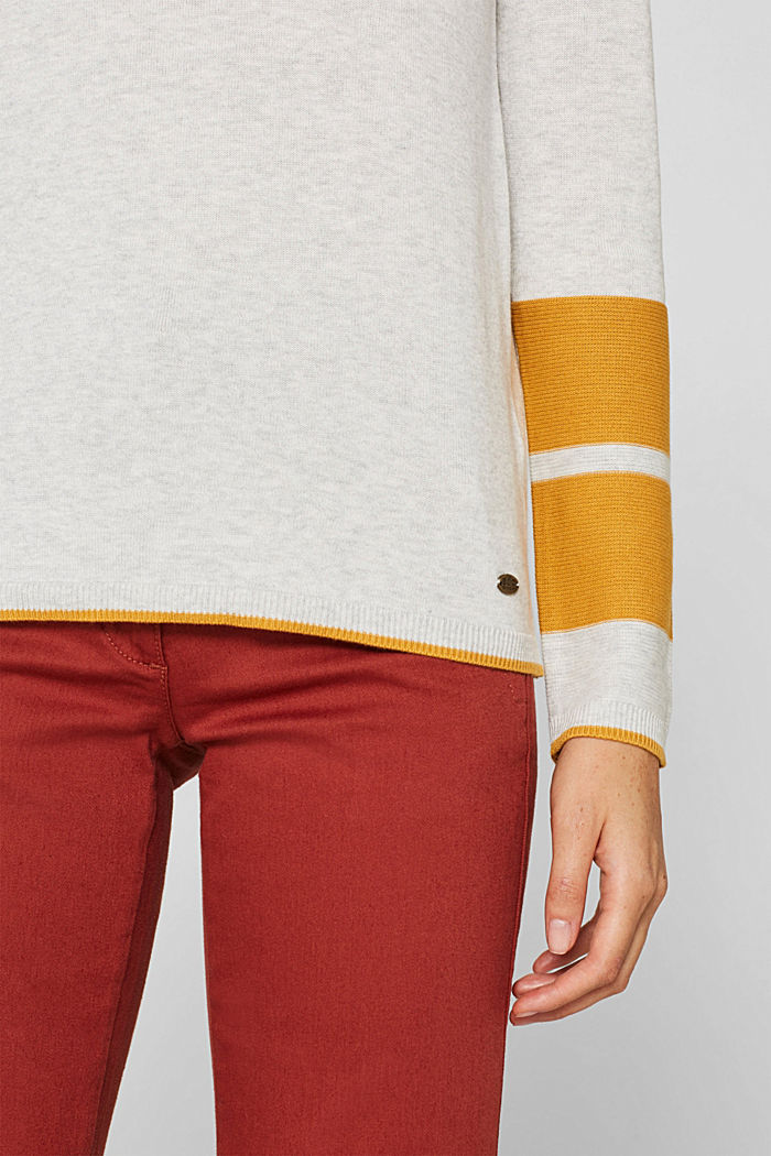 Jumper with colour blocking, LIGHT GREY, detail image number 2