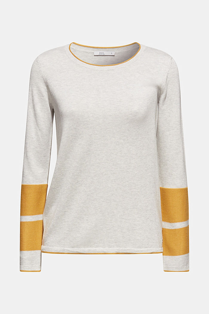 Jumper with colour blocking, LIGHT GREY, detail image number 6