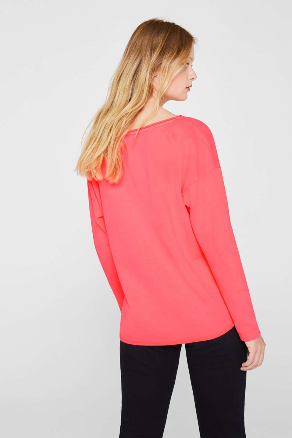 Sweatshirts, CORAL, detail image number 3