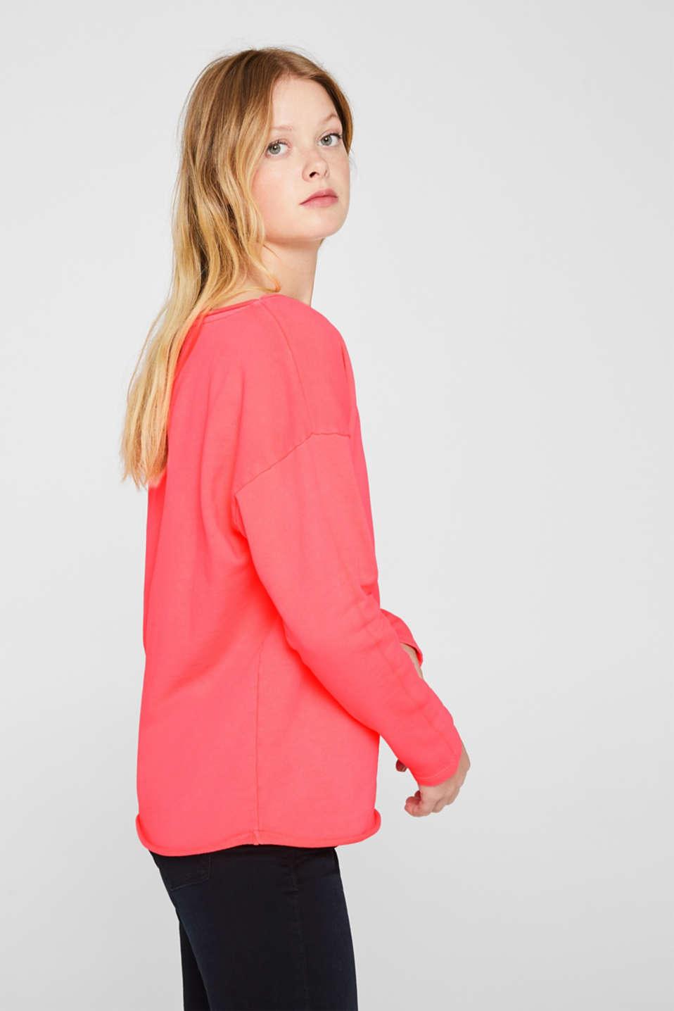 Sweatshirts, CORAL, detail image number 5