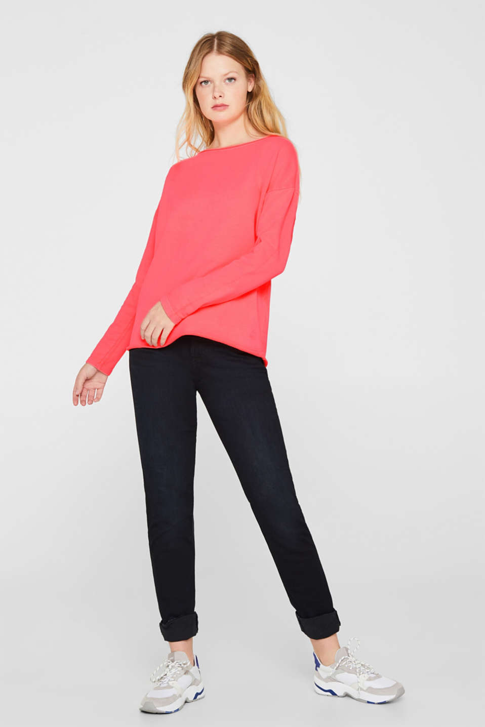 Sweatshirts, CORAL, detail image number 1