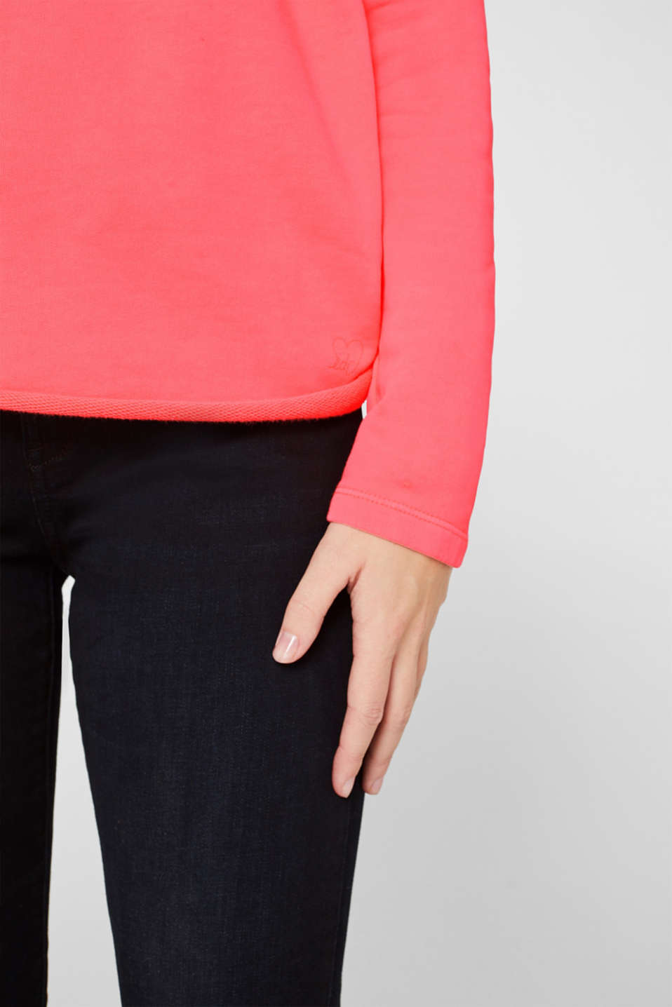 Sweatshirts, CORAL, detail image number 2