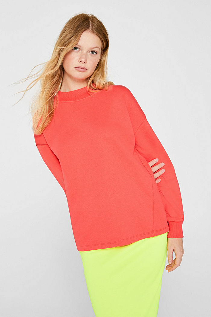 Sweatshirt with inside-out seams, CORAL, detail image number 0