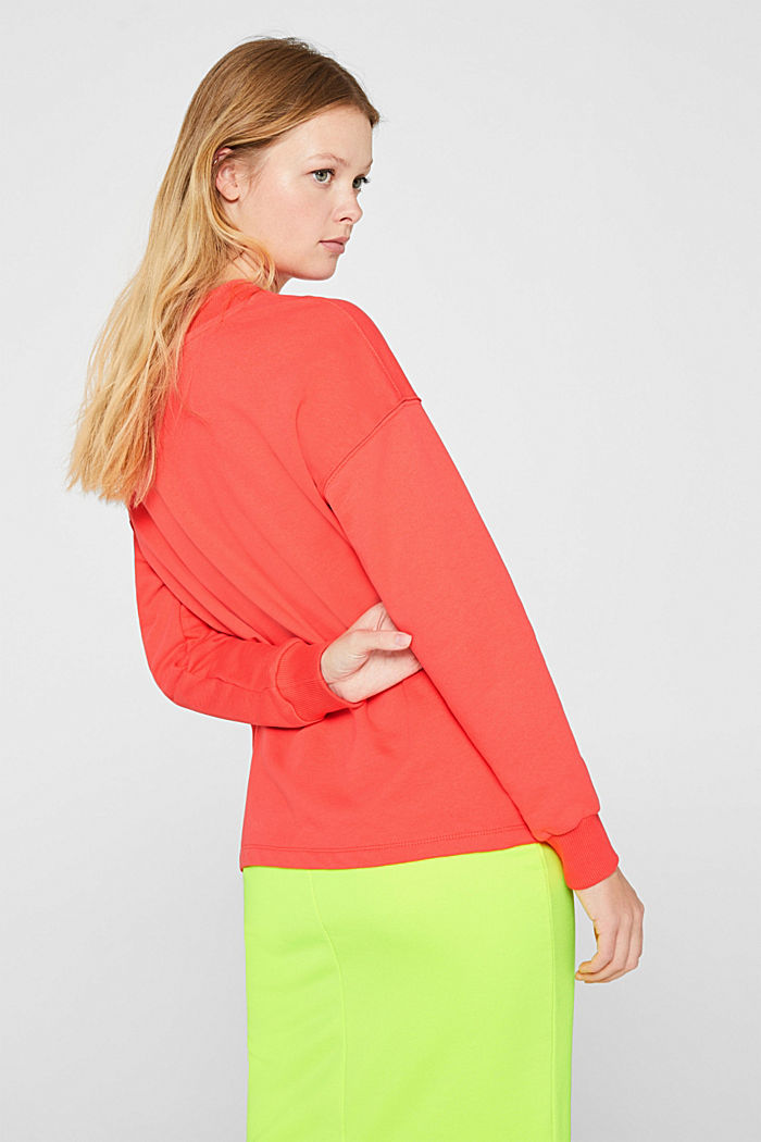 Sweatshirt with inside-out seams, CORAL, detail image number 3
