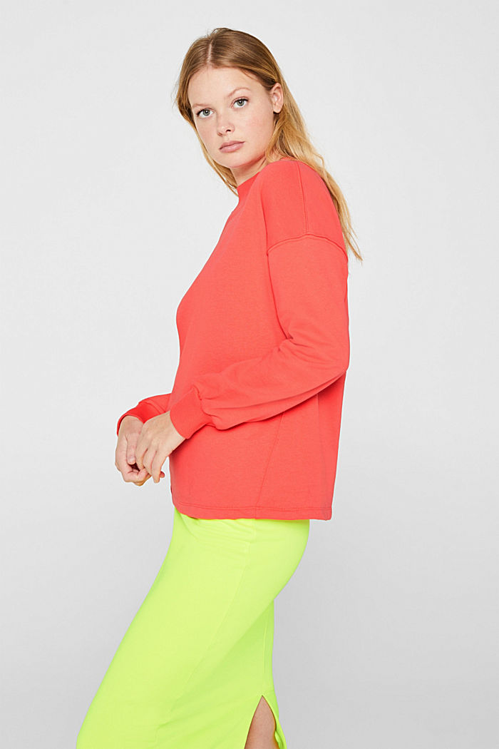 Sweatshirt with inside-out seams, CORAL, detail image number 5