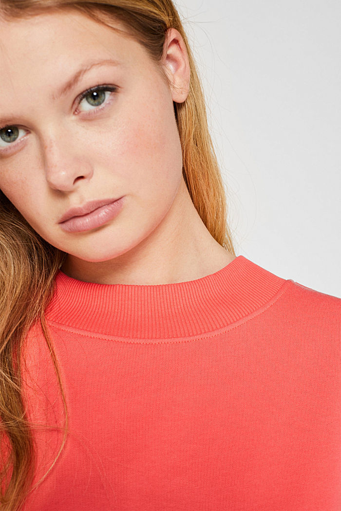 Sweatshirt with inside-out seams, CORAL, detail image number 2