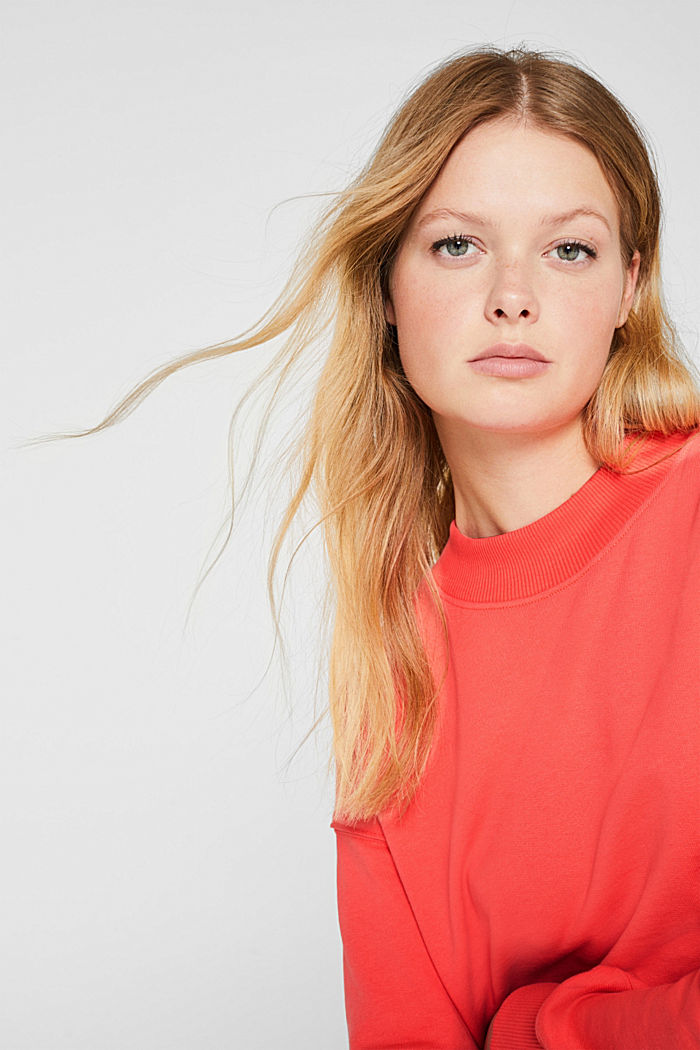 Sweatshirt with inside-out seams, CORAL, detail image number 7
