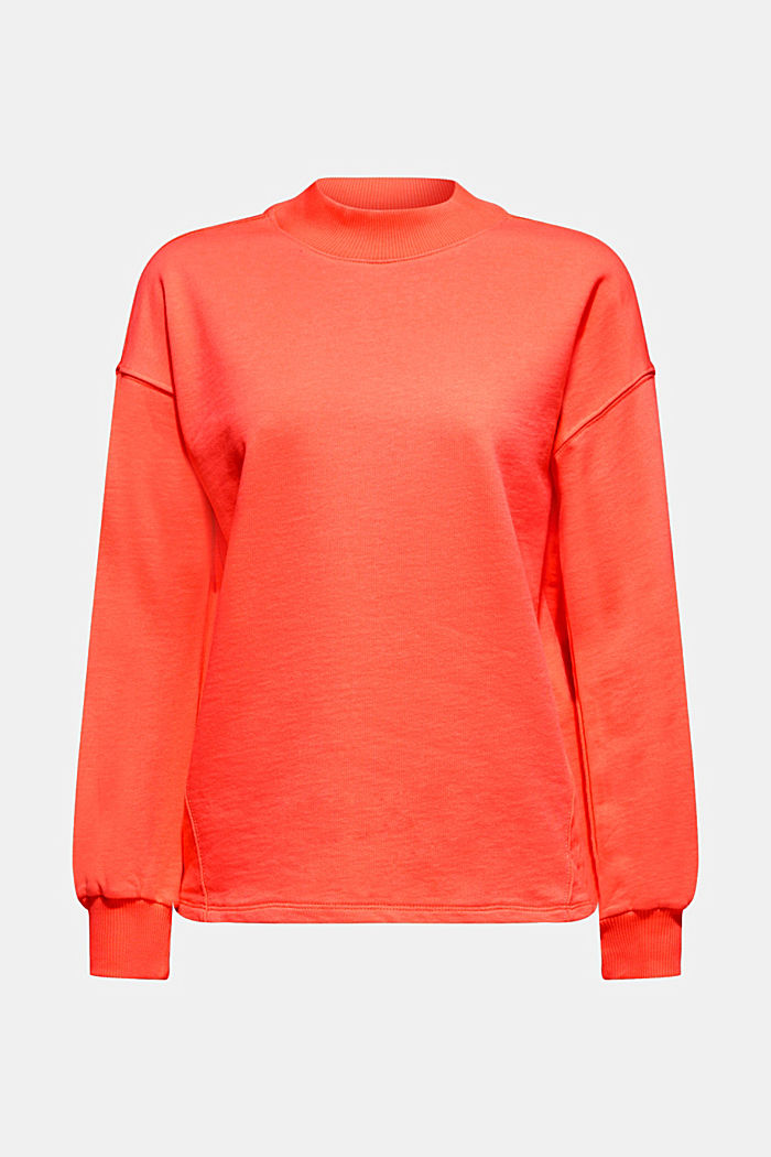 Sweatshirt with inside-out seams, CORAL, overview