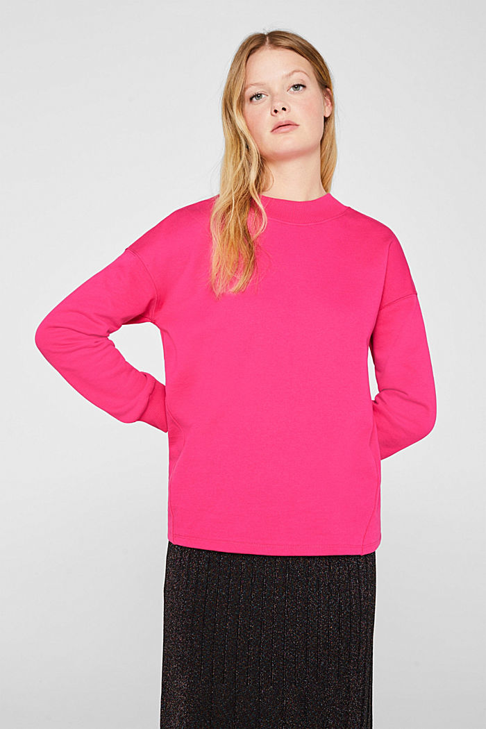 Sweatshirt with inside-out seams, PINK, detail image number 0