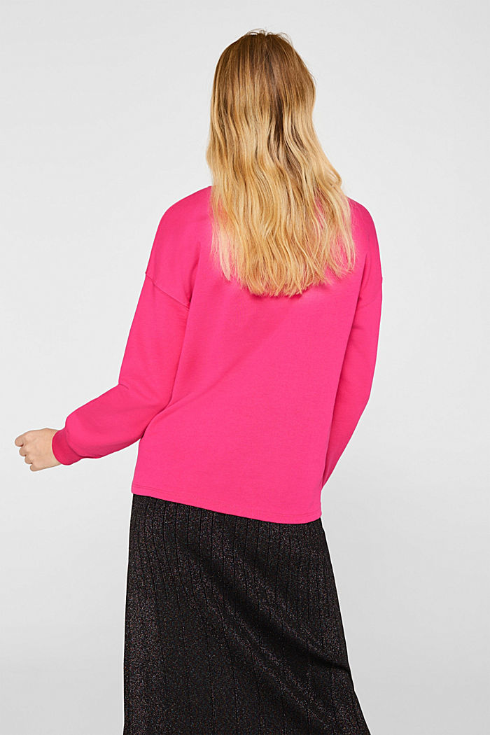 Sweatshirt with inside-out seams, PINK, detail image number 3