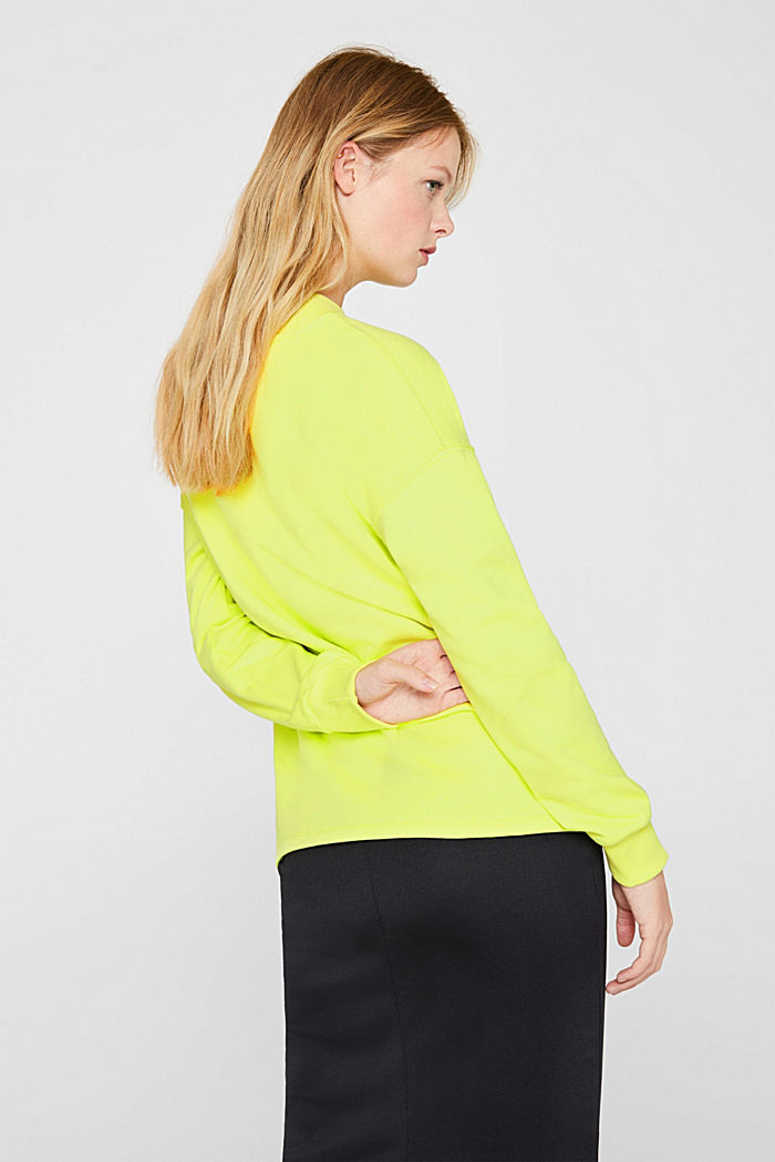 Sweatshirt with inside-out seams, BRIGHT YELLOW, detail image number 3