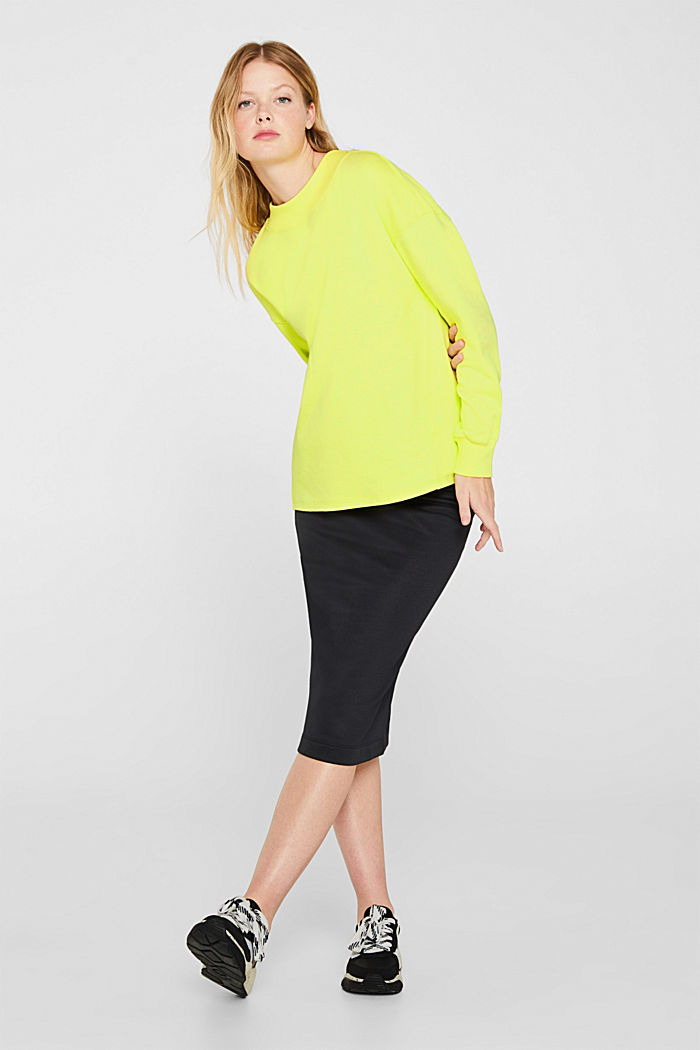 Sweatshirt with inside-out seams, BRIGHT YELLOW, detail image number 5