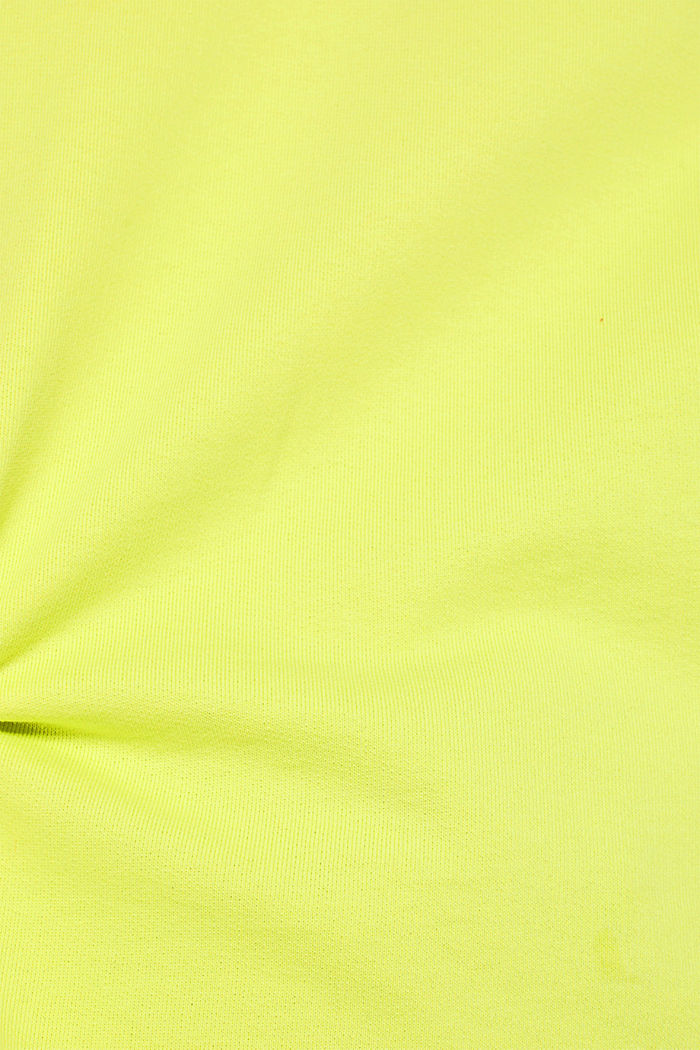 Sweatshirt with inside-out seams, BRIGHT YELLOW, detail image number 4