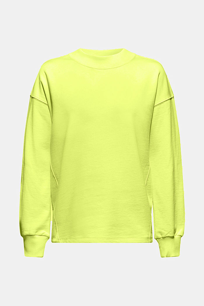 Sweatshirt with inside-out seams, BRIGHT YELLOW, detail image number 6