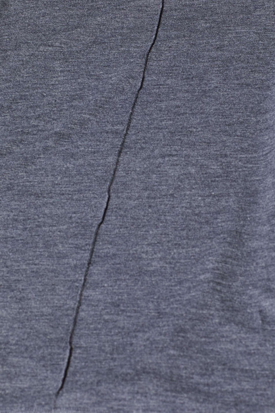 Silky long sleeve top with an inside-out seam, NAVY, detail image number 4