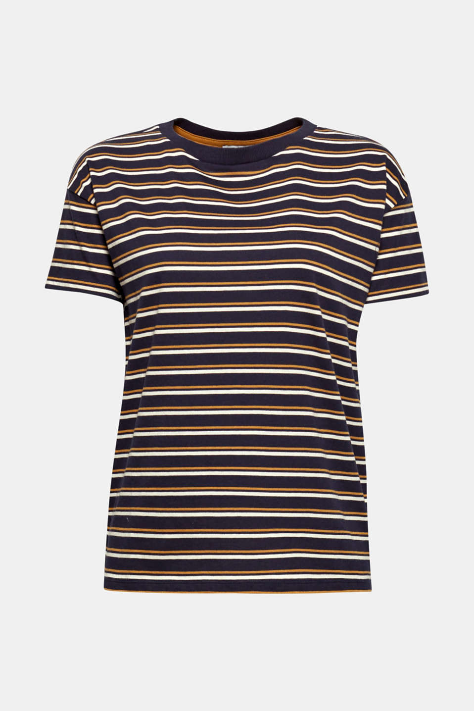 Striped T-shirt, 100% cotton, NAVY, detail image number 6