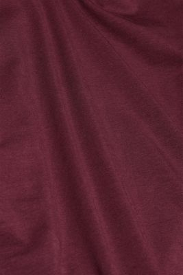 Long sleeve stretch cotton top, BORDEAUX RED 4, detail