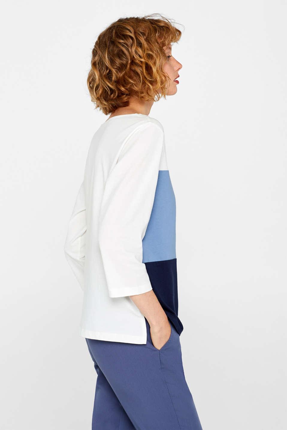 Top with block stripes, 100% cotton, BLUE LAVENDER, detail image number 5