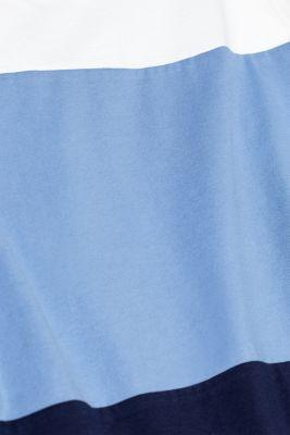 Top with block stripes, 100% cotton, BLUE LAVENDER, detail