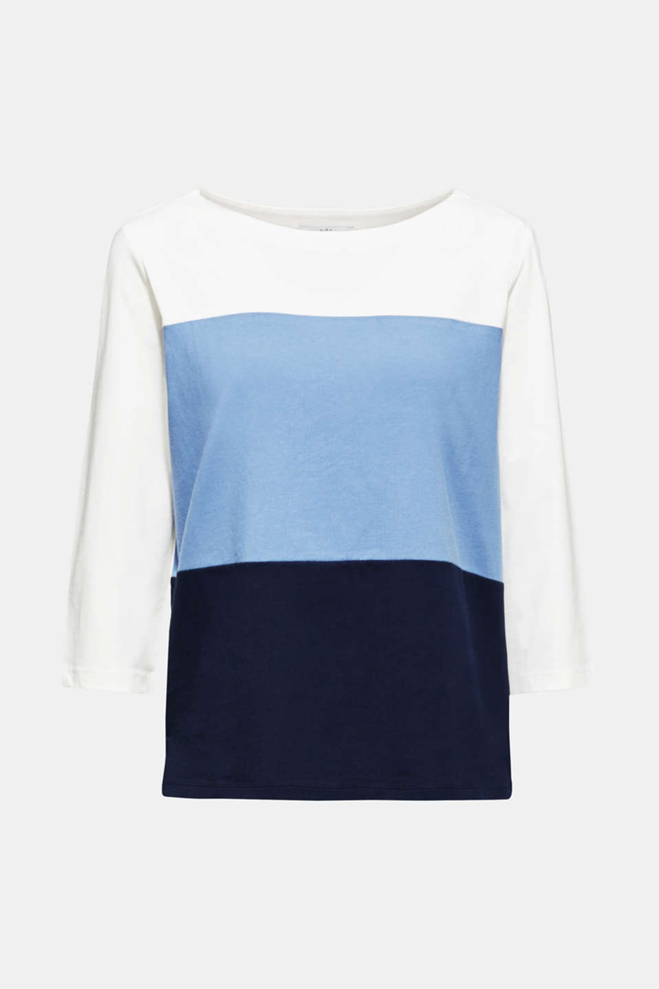 Top with block stripes, 100% cotton, BLUE LAVENDER, detail image number 7