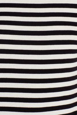 Accent trim T-shirt, 100% cotton, OFF WHITE, detail
