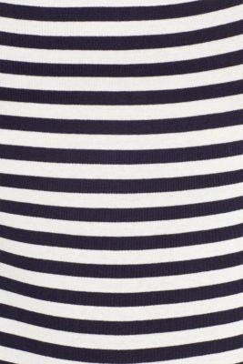 Accent trim T-shirt, 100% cotton, NAVY, detail