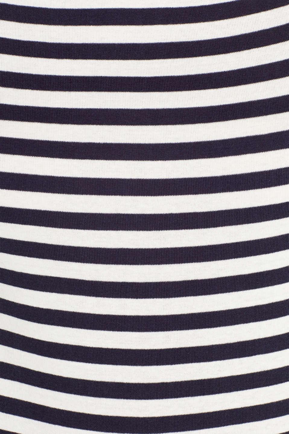 Accent trim T-shirt, 100% cotton, NAVY, detail image number 4