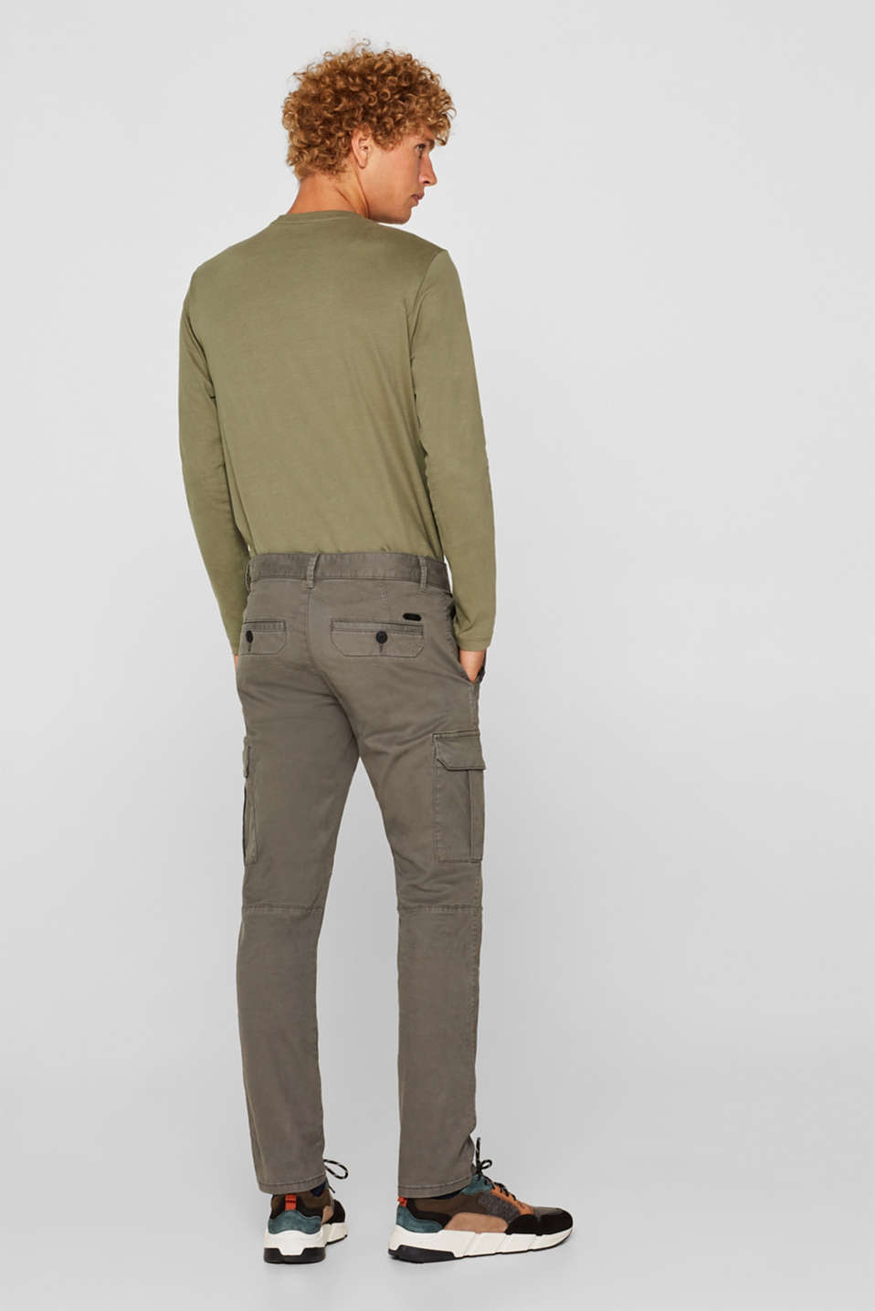 Stretch trousers with cargo pockets, GUNMETAL, detail image number 3