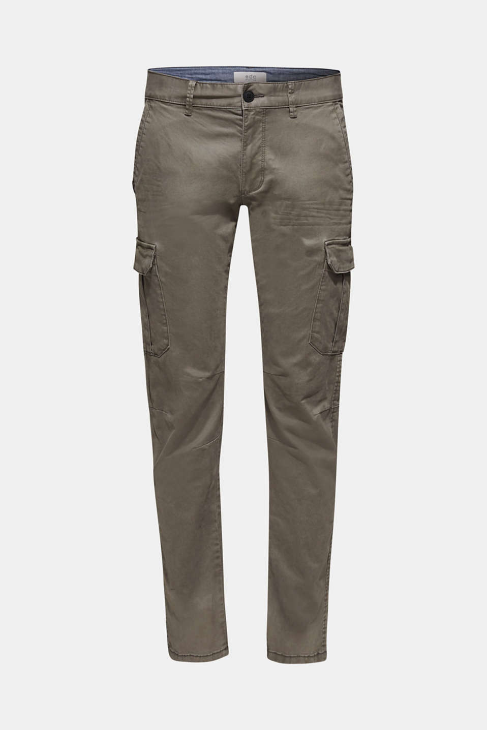 Stretch trousers with cargo pockets, GUNMETAL, detail image number 5