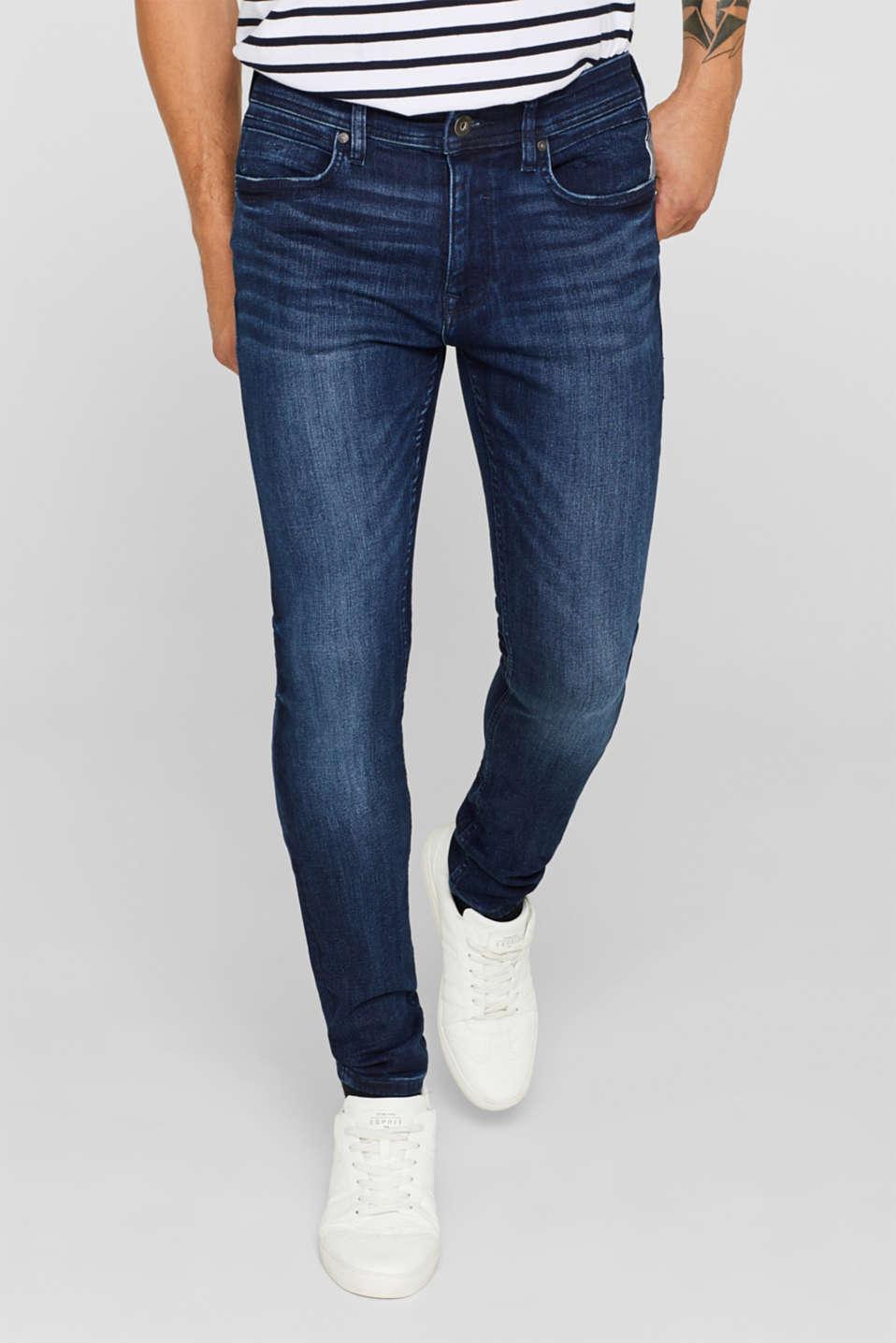 Pants denim, BLUE DARK WASH, detail image number 0
