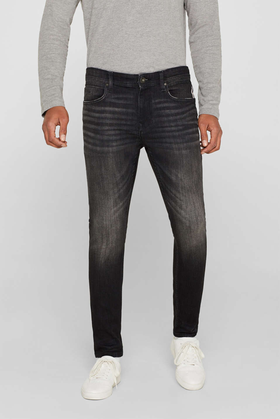 edc - Super stretch jeans with a stone wash