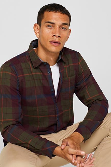 Magnifique chemise homme Esprit à carreaux classique manches longues