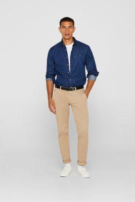 Denim shirt in 100% cotton, BLUE MEDIUM WASH, detail