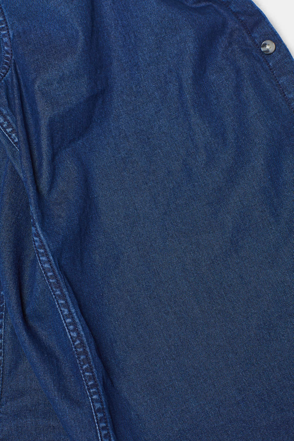 Denim shirt in 100% cotton, BLUE MEDIUM WASH, detail image number 4