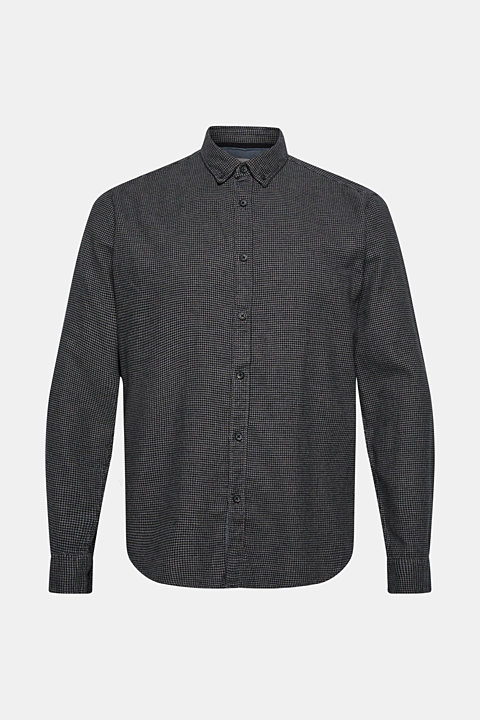 Shirt with a houndstooth pattern, 100% cotton