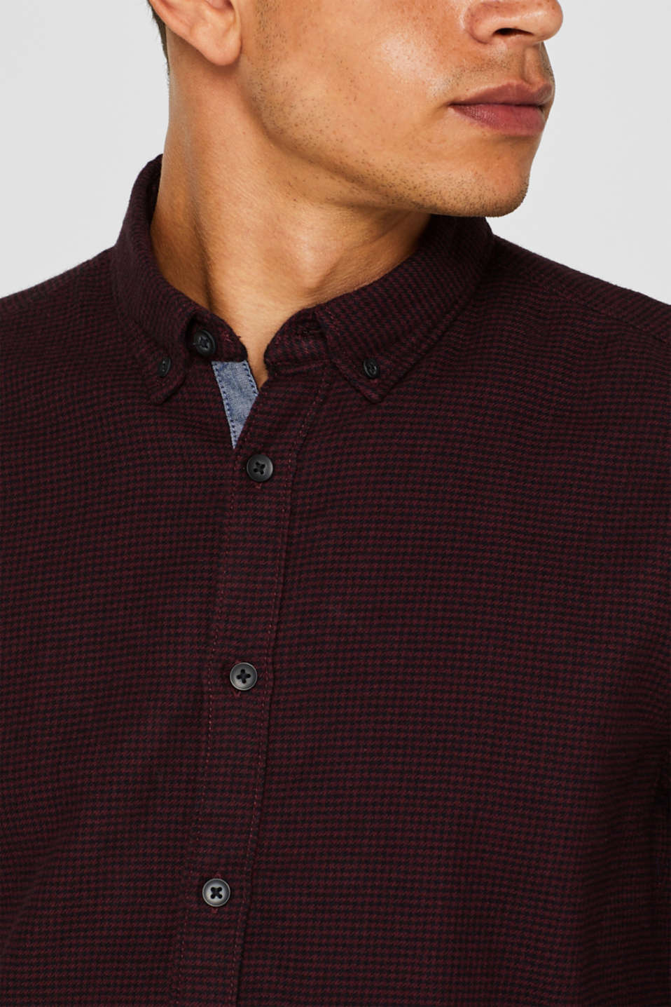 Shirts woven Slim fit, BORDEAUX RED, detail image number 5