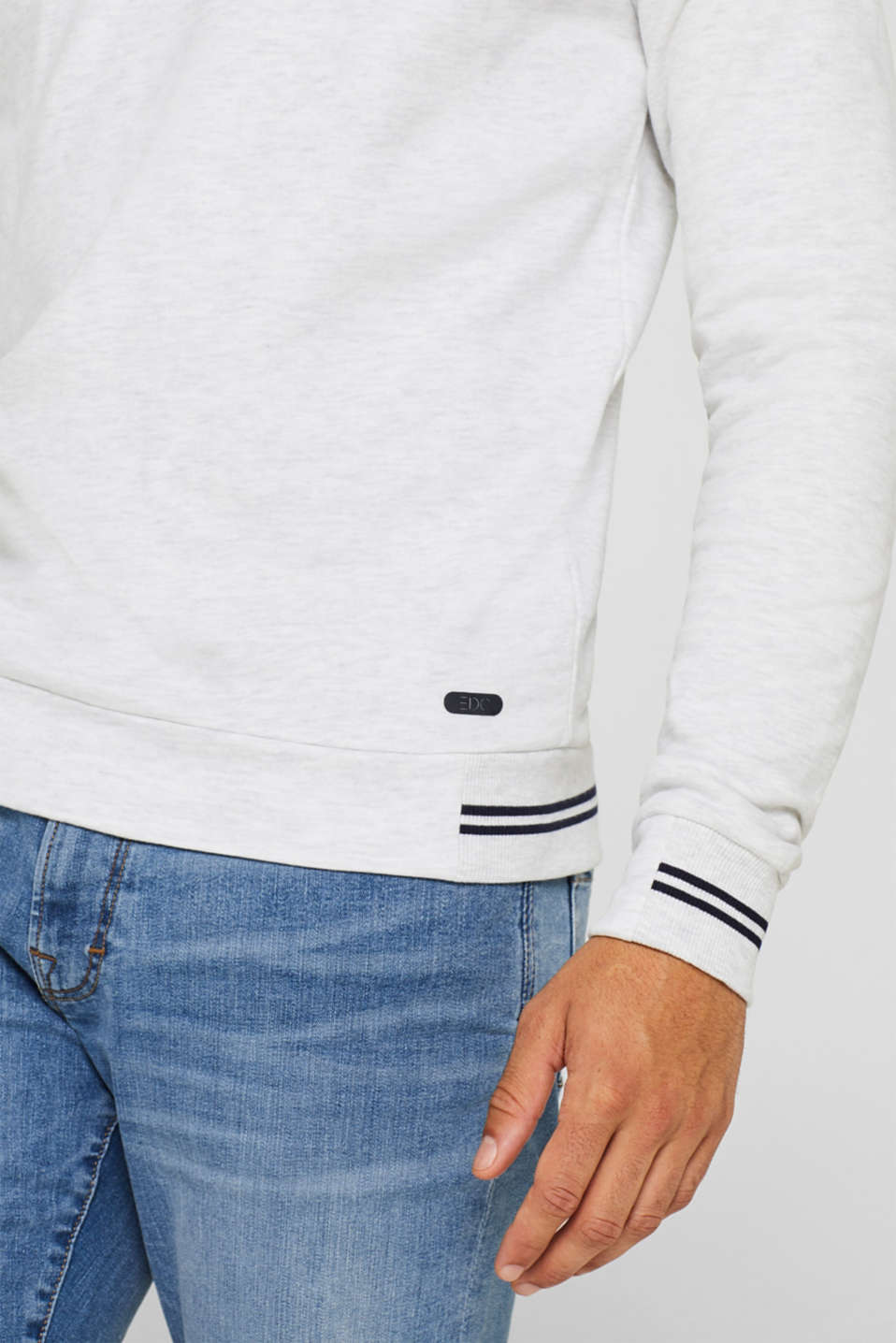 Sweatshirt in 100% cotton, OFF WHITE, detail image number 2