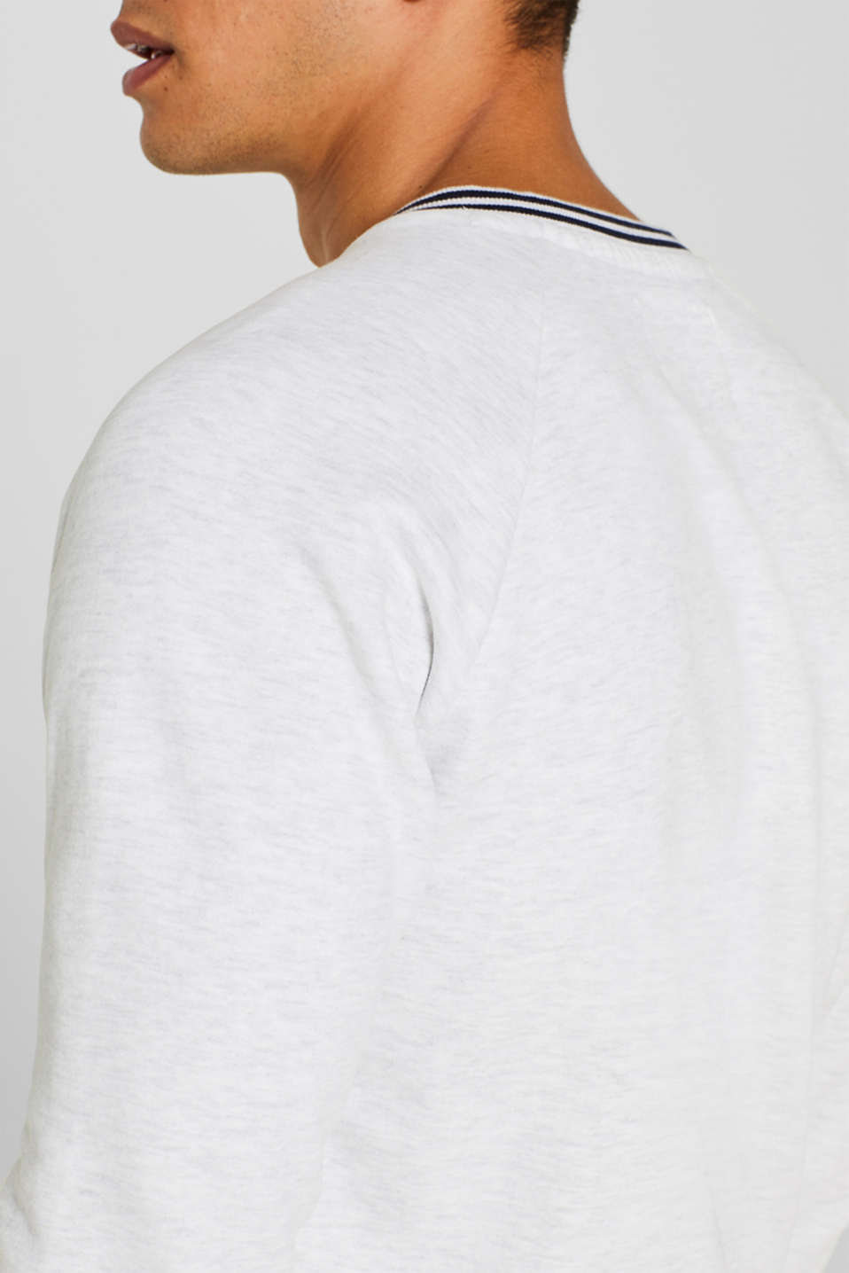 Sweatshirt in 100% cotton, OFF WHITE, detail image number 5